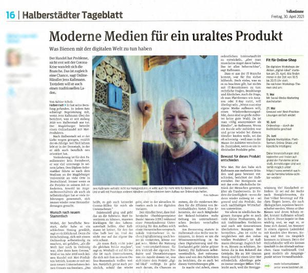 Presseartikel Volksstimme 04/2021